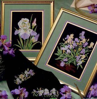 Iris Garden Counted Cross Stitch Patterns