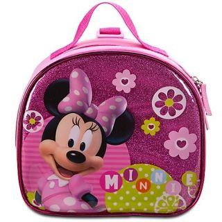 New  Minnie Mouse Lunch Box Tote One Free New Gloss