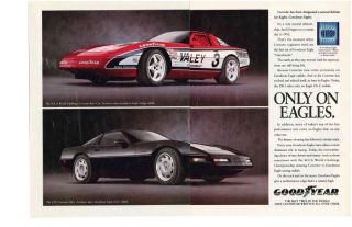 1992 Chevrolet Corvette ZR 1 Awesome 2 Page Goodyear Ad