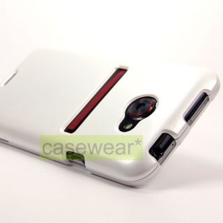 Luxmo Pearl White Glossy Hard Case Cover for HTC Evo 4G LTE Sprint