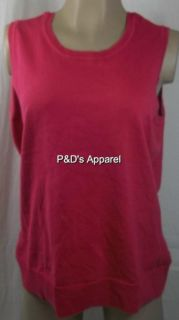 New Womens Plus Size Clothing Charter Club 0X Pink Tank Top Shirt