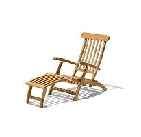 Traditional Teak Wood Ocean Deck Chair Patio Outdoor