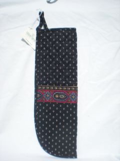 Vera Bradley CURLING IRON Cover Original BLACK ~ NWT   RARE & RETIRED