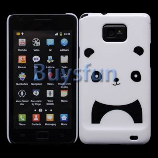 Cute Panda Style White Hard Case Cover for Samsung Galaxy S2 I9100