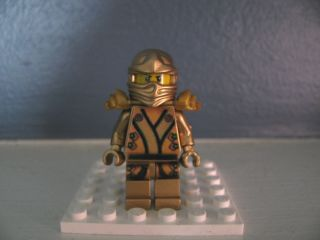 Lego NINJAGO 2013 Custom OOAK Golden Gold Lloyd kimono Dragon sword
