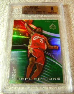 Lebron James 2003 Upper Deck Emerald 100 Rookie BGS 9