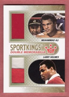 MUHAMMAD ALI WORN BOXING TRUNKS & LARRY HOLMES WORN ROBE PATCH ONLY 20