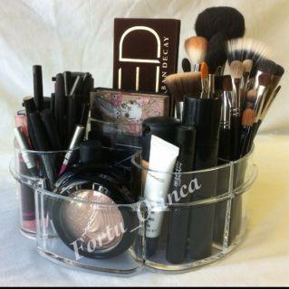 Mac Makeup Vanity Organizer Brush Holder Storage Clear Acrylic