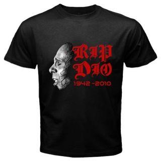 Ronnie James Dio Prefix 1942 2010 Black T Shirt Size s M L XL