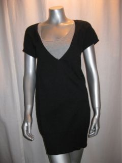 98 MSSP Max Studio Charcoal s s Sweater Dress Sz M