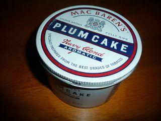 30 yr Mac Barens Macbarens Plumcake 8 oz Pipe Tobacco Tin Unopened