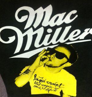 Mac Miller Smoking Unisex Adult Black Hoodie
