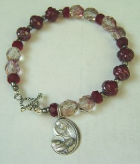 Sterling Silver Mary Child Charm Bracelet Rosary