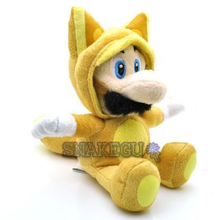 New Super Mario 9 Fox Kitsune Luigi Plush Doll Toy MX1748
