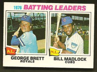 1976 Batting Leaders Brett Madlock 1977 Topps Card 1