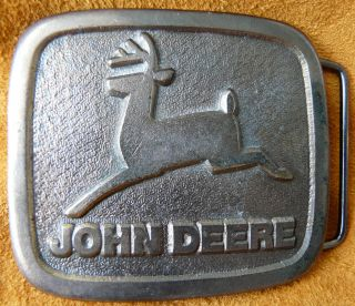 Vintage John Deere Tractors Farm Machinery Farming Belt Buckle