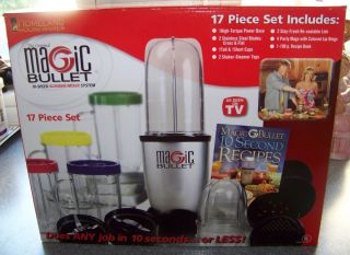Magic Bullet Hi Speed Blender Mixer System 17 Piece Set Brand New