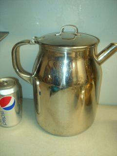 VOLLRATH STAINLESS STEEL PITCHER GALLON COFFEE POT 7964 RESTAURANT