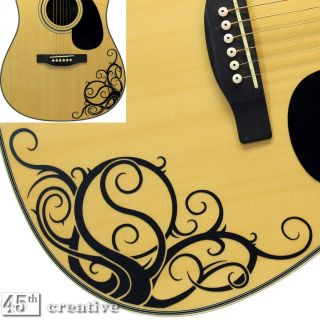 Vine Acoustic Guitar Graphic Decal Fits Gibson Epiphone Maestro