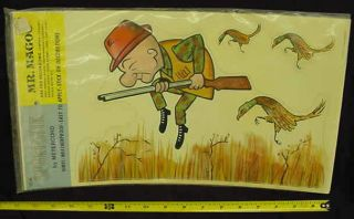 Mr Magoo Hunting Pheasant Sport Stik Stickers 1975