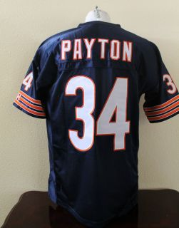 Walter Payton Chicago Bears 34 Home Navy Blue Football Jersey Size M L