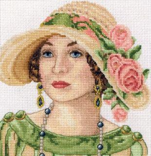Maia Counted Cross Stitch Kit Art Deco Portrait 18