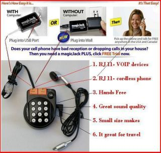 magic jack PLUS netTALK Duo great works w Mini Jack Dual Port VoIP
