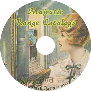 Majestic Antique Wood Stove 3 Catalogs on CD