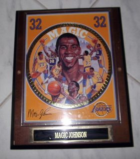 MAGIC JOHNSON 4042 62 NUMBERED EDITION COLLECTORS WOODEN PLAQUE #1620