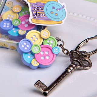 60 BABY SHOWER FAVORS CUTE AS A LITTLE BUTTON KEYCHAIN FAVORS GENDER