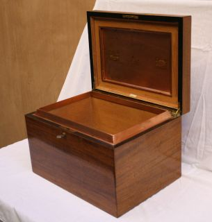 Magnificent Large English Alfred Dunhill Cigar Humidor Box Signed