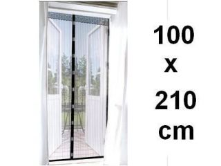 BLACK Magnetic Mesh Screen Door Curtain Bug Out Closure Pet Dog