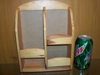 Pocket Wooden Wall Mail Organizer Display Shelf