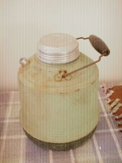 Stoneware or Ceramic Bottle Water Jug Cooler Dispenser Farm Outside
