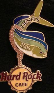 rodeo lapel pin badge mahi mahi dolphin with a lasso around it and