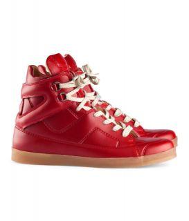 Maison Martin Margiela H M Trompe LOeil High Top Sneaker Red Size 43