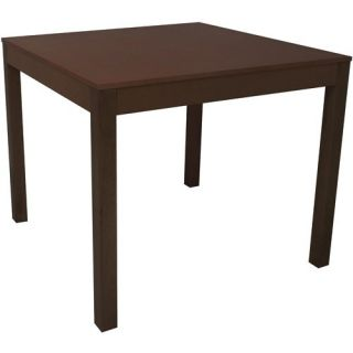 Mainstays Solid Wood Dining Table Espresso Brown Parsons Work Seats 4
