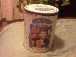 Golden Malted Flour Tin