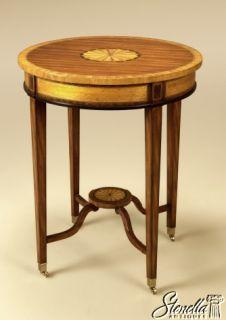 2134 Maitland Smith Round Hepplewhite Mahogany Table