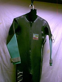 Ronny Rubber Semi Drysuit Men Size Small 4 All Water Sports Suit