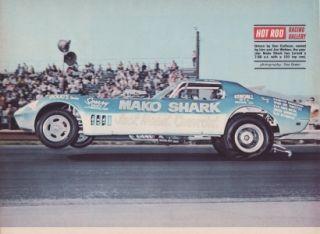 1969 Chevrolet Corvette Funnycar Mako Shark Poster
