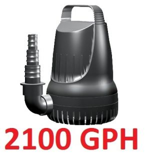 2100 GPH Submersible Magnetic Drive Pump for Koi Goldfish Pond