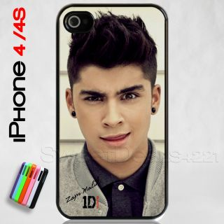 Custom Apple iPhone 4 4S Zayn Malik Case Cover One Direction Zayne 1D