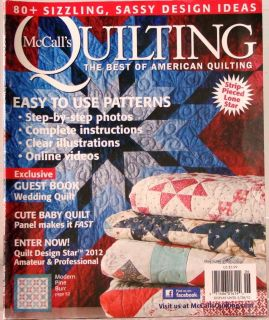 Magazine May June 2012 $6 Best Ofamerican Quilting Wedding Book