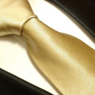 804 Solid Tan Paul Malone Silk Necktie
