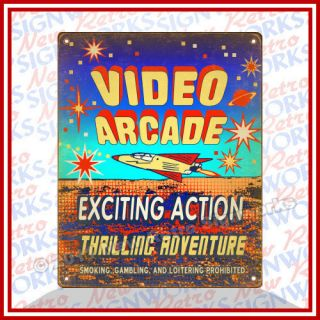 Arcade Sign Game Machines Atari Asteroids Pacman Sega Galaga Mame