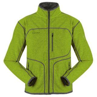 Mammut Mens Fleece Jacket Oasis Green Full Zip