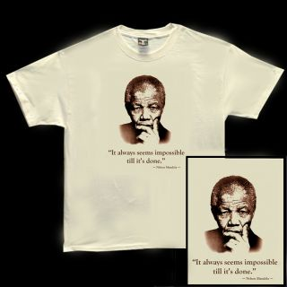 Nelson Mandela South Africa Invictus Peace SS T Shirt