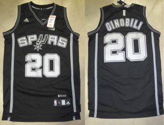 San Antonio Spurs Manu Ginobili Rhythm Swingman Jersey Black Sz Medium