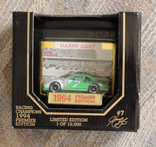 94 Racing Champions, #7 Manheim, Harry Gant, car and collector card